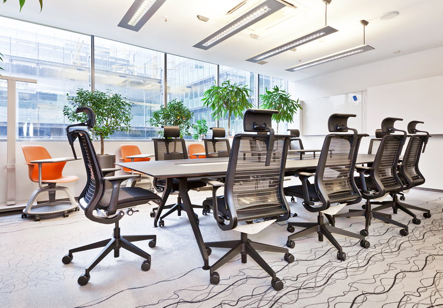 The Main Meeting Room Is Designed For Teamwork Meetings And Negotiations There A Conference Table 4 8 Steelcase Comfortable Think Chairs